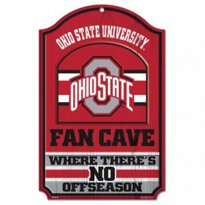 Ohio State 11 x 17 Wood Fan Cave Sign