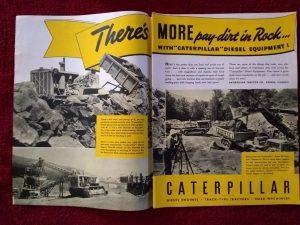 Vintage 1940 Bucyrus Erie Heavy Equipment Advertisement  Ad