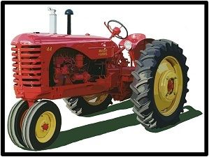 Massey Harris Farm Equipment New Metal Sign Model 555 Tractor Featured