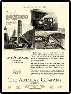 1972 Autocar Heavy Dump Truck New Metal Sign LARGE SIZE 12 X 16