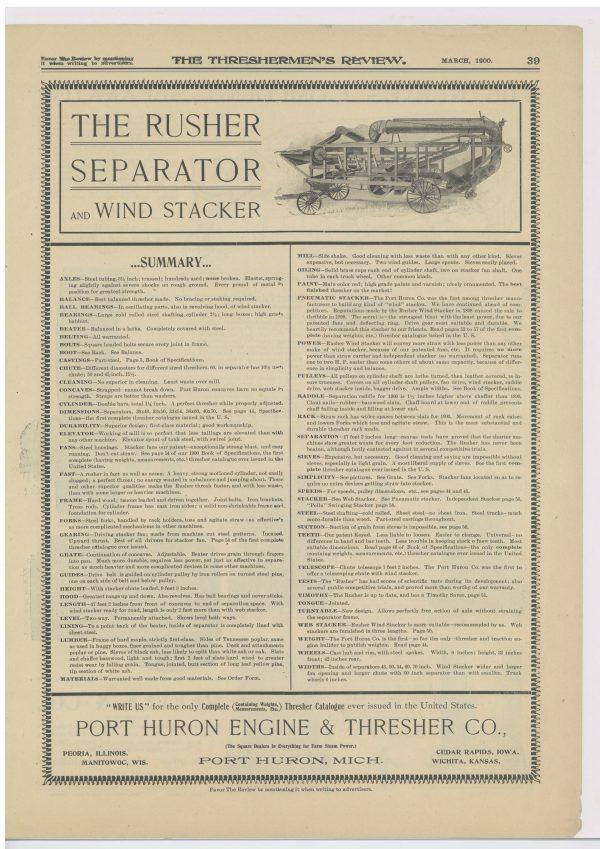 1900 Port Huron Engine & Thresher Co.