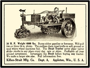 Illinois Canton 1919 P /& O Little Genius Tractor Plows New Metal Sign