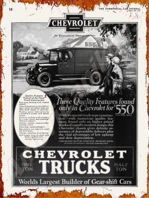 Chevrolet Trucks New Metal Sign Michigan CT-228 Doyle Freight Lines Saginaw