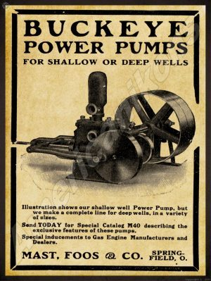Shippensburg New Metal Sign Pennsylvania 1912 Domestic Engine /& Pump Co